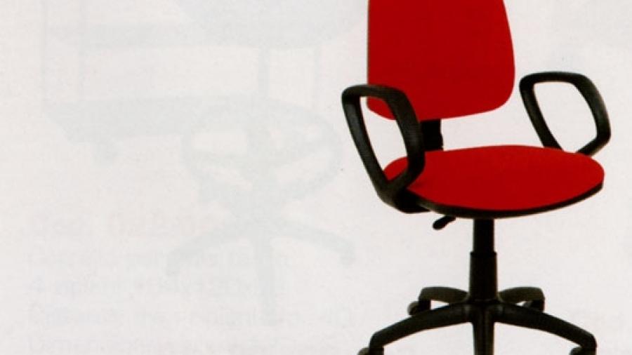 Sedia imbottita ufficio c/braccioli