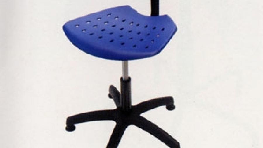 Sedia in polipropilene azzurra