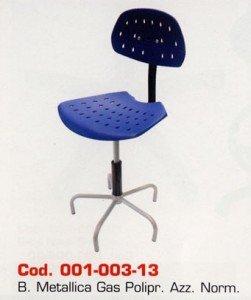 Sedia in polipropilene b/metallica
