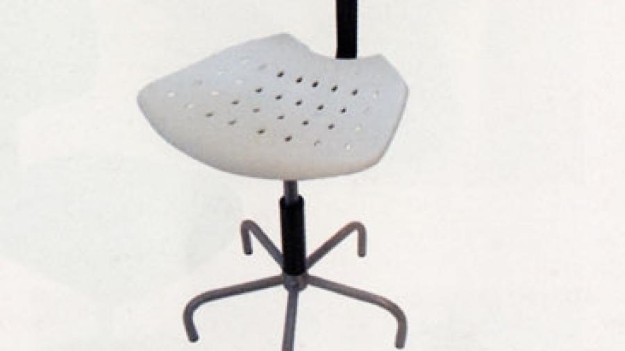 Sedia in polipropilene bianca